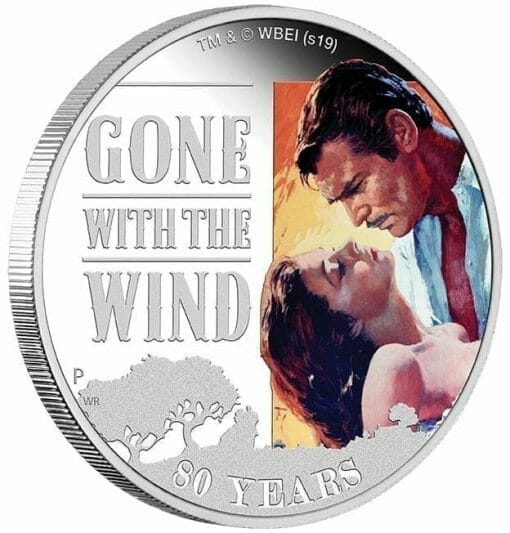 2019 Gone with the Wind 80th Anniversary 1oz Silver Proof Coin 3