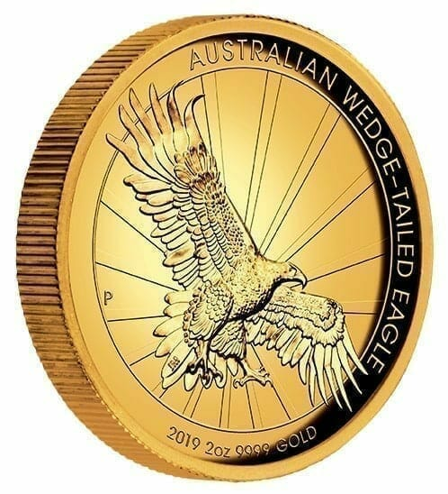 2019 Australian Wedge-Tailed Eagle 2oz Gold Proof High Relief Coin 3