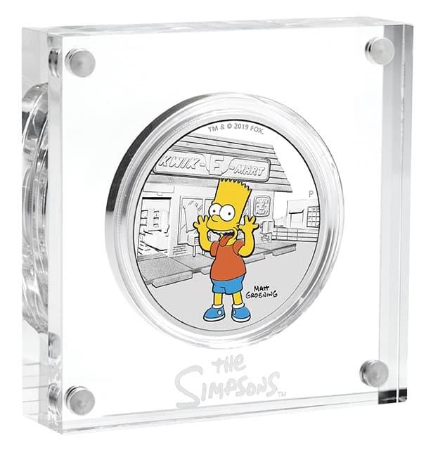 2019 The Simpsons - Bart & Homer 2 Silver Coin Set - Coloured 1oz & 1oz Bullion 11