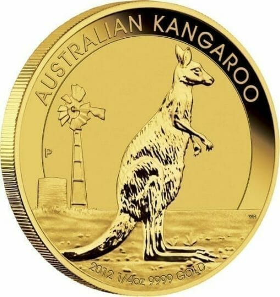2012 Australian Kangaroo 1/4oz Gold Bullion Coin 2