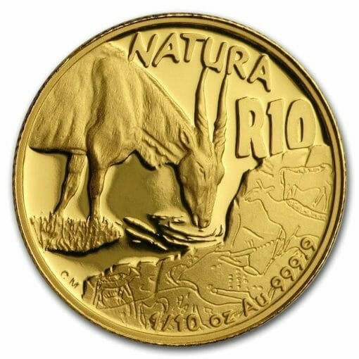 2007 Giants of Africa - The Eland 4 Coin Gold Proof Set - Natura Proof Set 8