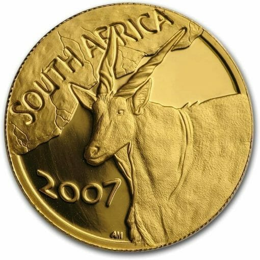2007 Giants of Africa - The Eland 4 Coin Gold Proof Set - Natura Proof Set 7