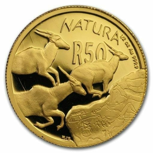 2007 Giants of Africa - The Eland 4 Coin Gold Proof Set - Natura Proof Set 4