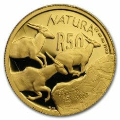 2007 Giants of Africa - The Eland 4 Coin Gold Proof Set - Natura Proof Set 13