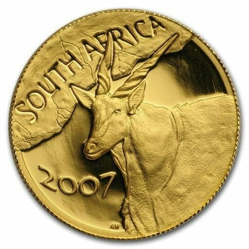 2007 Giants of Africa - The Eland 4 Coin Gold Proof Set - Natura Proof Set 5