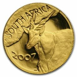 2007 Giants of Africa - The Eland 4 Coin Gold Proof Set - Natura Proof Set 14
