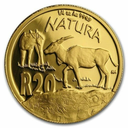 2007 Giants of Africa - The Eland 4 Coin Gold Proof Set - Natura Proof Set 6