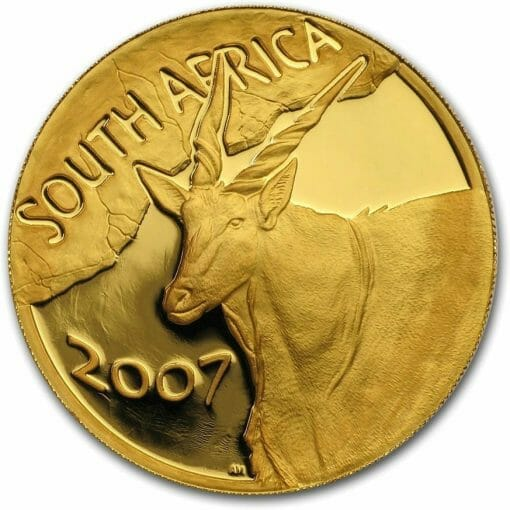 2007 Giants of Africa - The Eland 4 Coin Gold Proof Set - Natura Proof Set 3