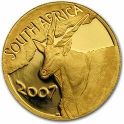 2007 Giants of Africa - The Eland 4 Coin Gold Proof Set - Natura Proof Set 12