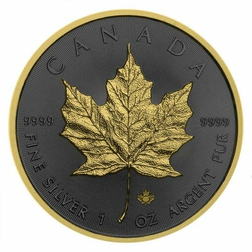 2019 Maple Leaf 1oz Silver Coin - Golden Ring Edition 1