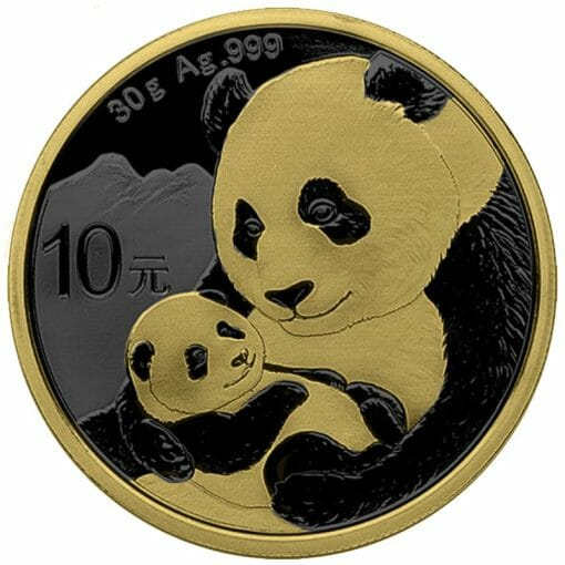 2019 Chinese Silver Panda 30g Silver Coin - Golden Ring Edition 1