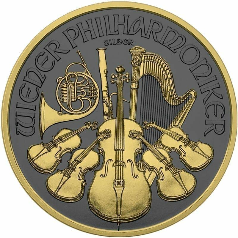 2019 Austrian Philharmonic 1oz Silver Coin - Golden Ring Edition 1
