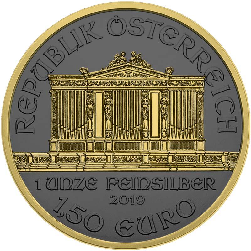 2019 Austrian Philharmonic 1oz Silver Coin - Golden Ring Edition 2