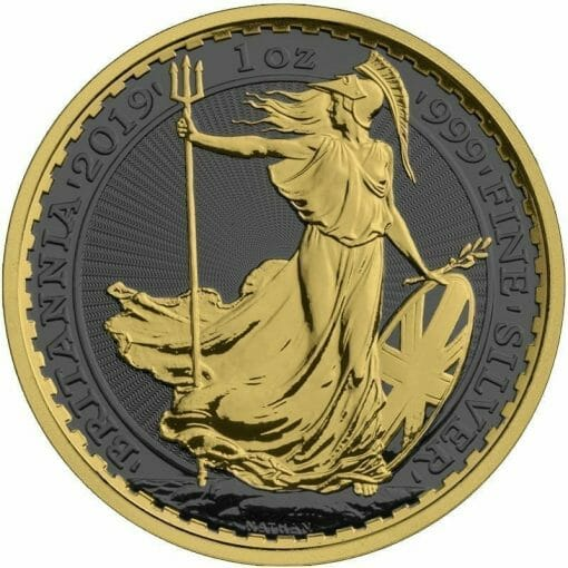 2019 Britannia 1oz Silver Coin - Golden Ring Edition 1