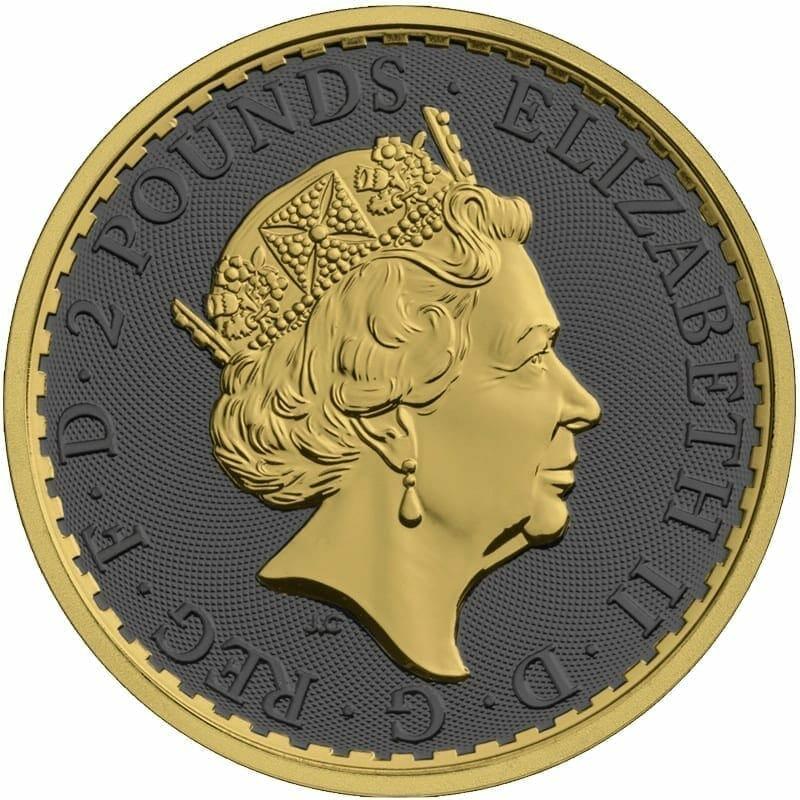 2019 Britannia 1oz Silver Coin - Golden Ring Edition 2