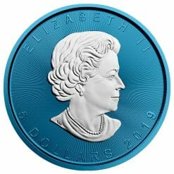 2019 Maple Leaf 1oz Silver Coin - Space Blue Edition 4