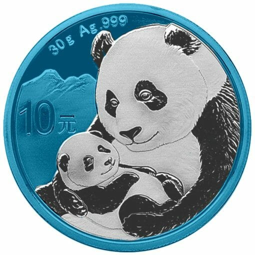 2019 Chinese Silver Panda 30g Silver Coin - Space Blue Edition 1