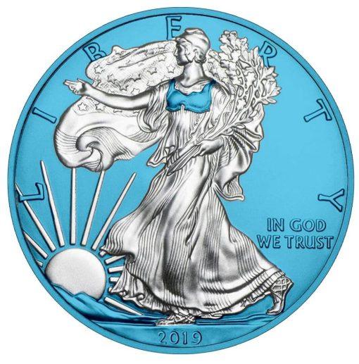 2019 American Silver Eagle 1oz Silver Coin - Space Blue Edition 1
