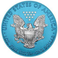2019 American Silver Eagle 1oz Silver Coin - Space Blue Edition 4