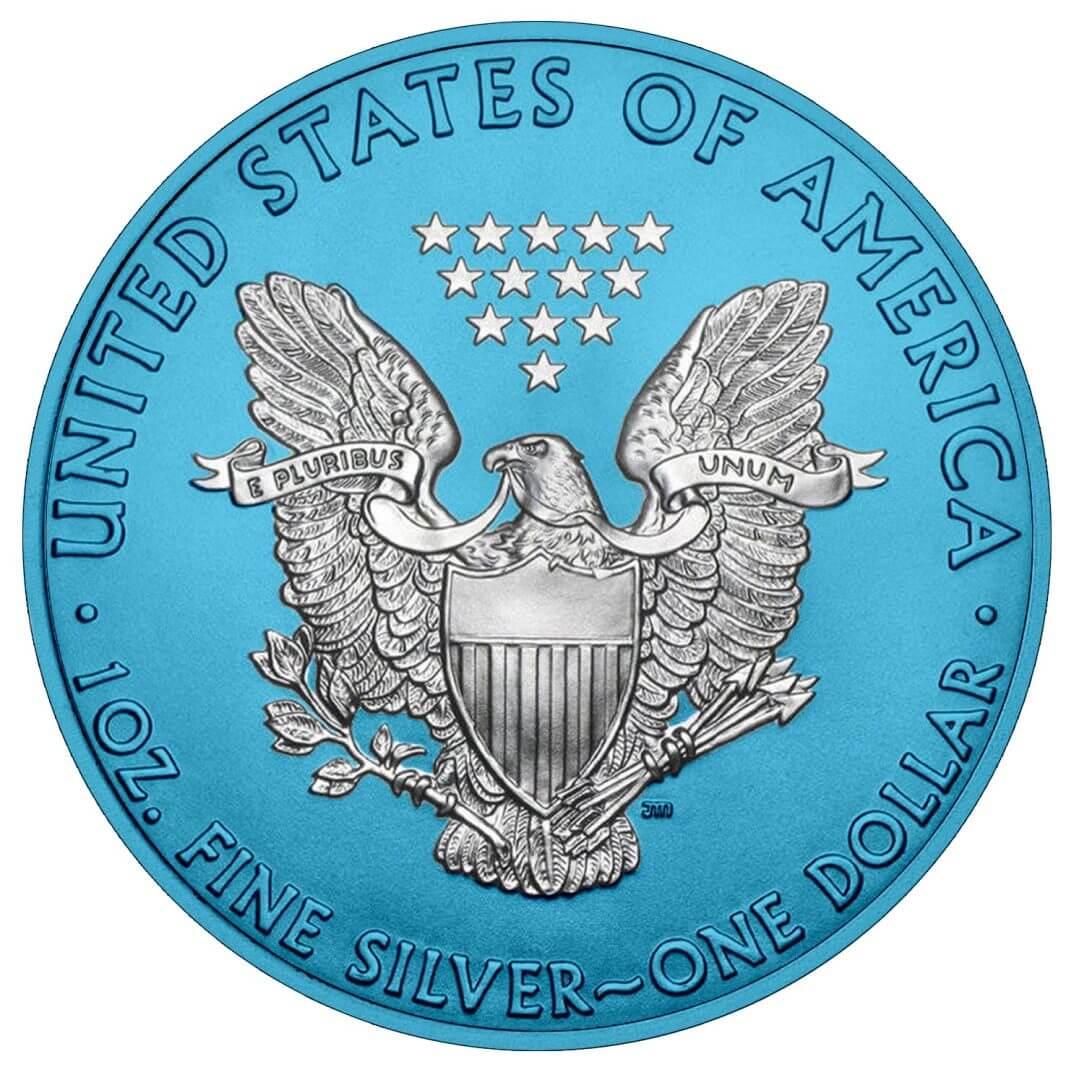 2019 American Silver Eagle 1oz Silver Coin - Space Blue Edition 2