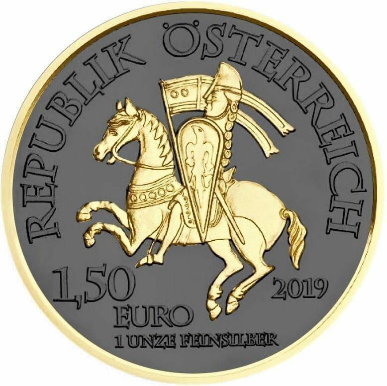 2019 Austrian Wiener Neustadt 1oz Silver Coin - Golden Ring Edition 2
