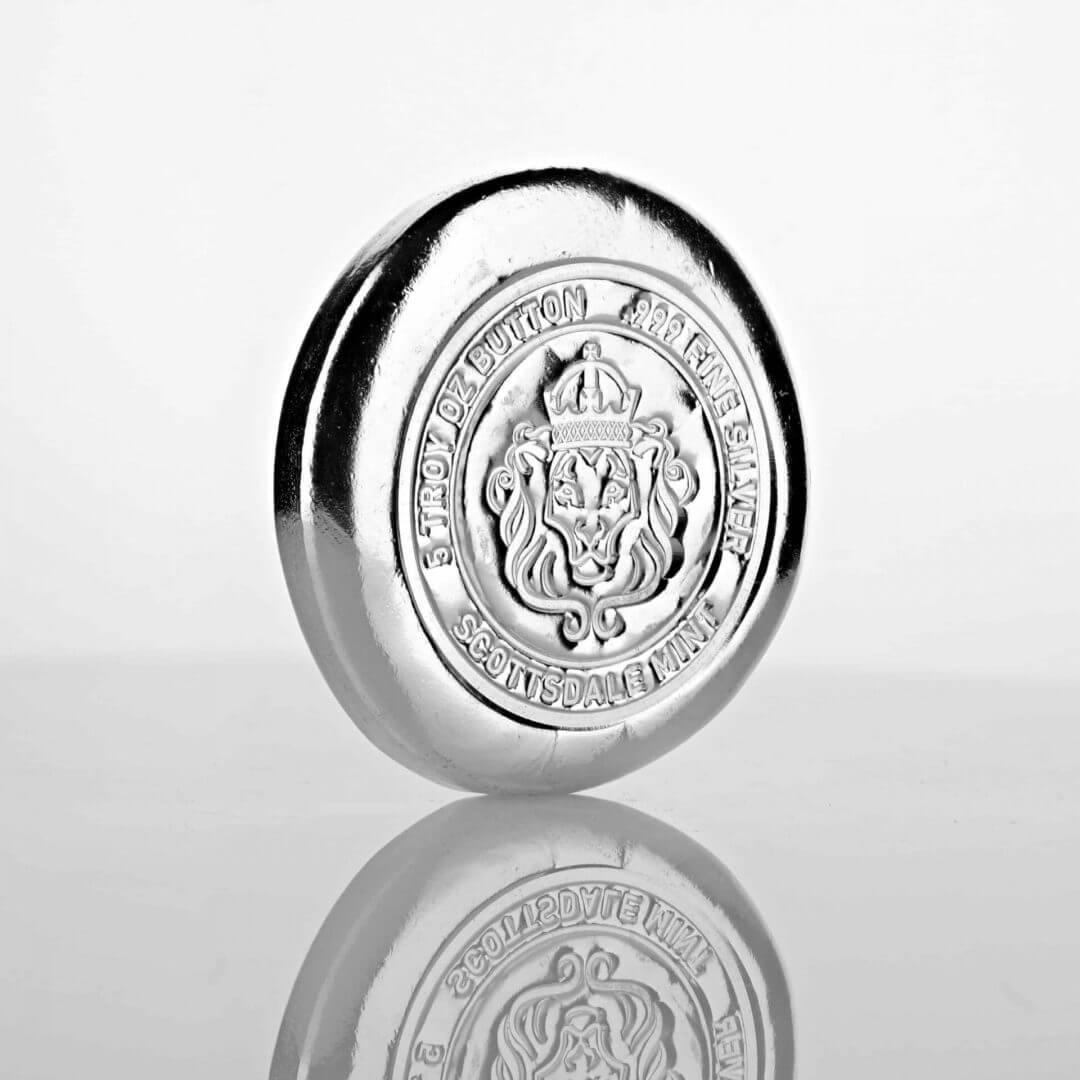 Scottsdale 5oz Round Silver Bullion Button 2