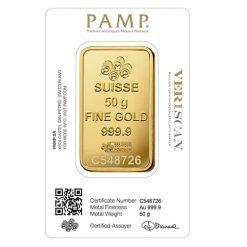 Lady Fortuna 50g .9999 Gold Minted Bullion Bar 5