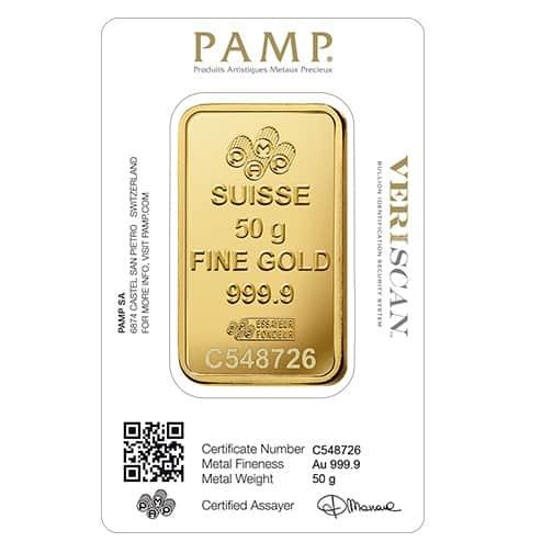 Lady Fortuna 50g .9999 Gold Minted Bullion Bar 2