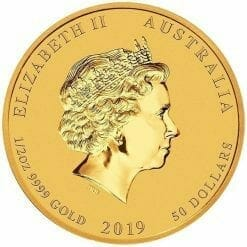 2019 Year of the Pig 1/2oz Gold Bullion Coin - Lunar Series II 5