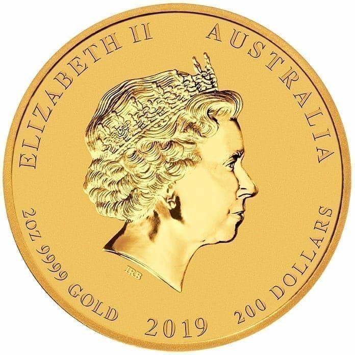 2019 Year of the Pig 2oz Gold Bullion Coin - Lunar Series II 3