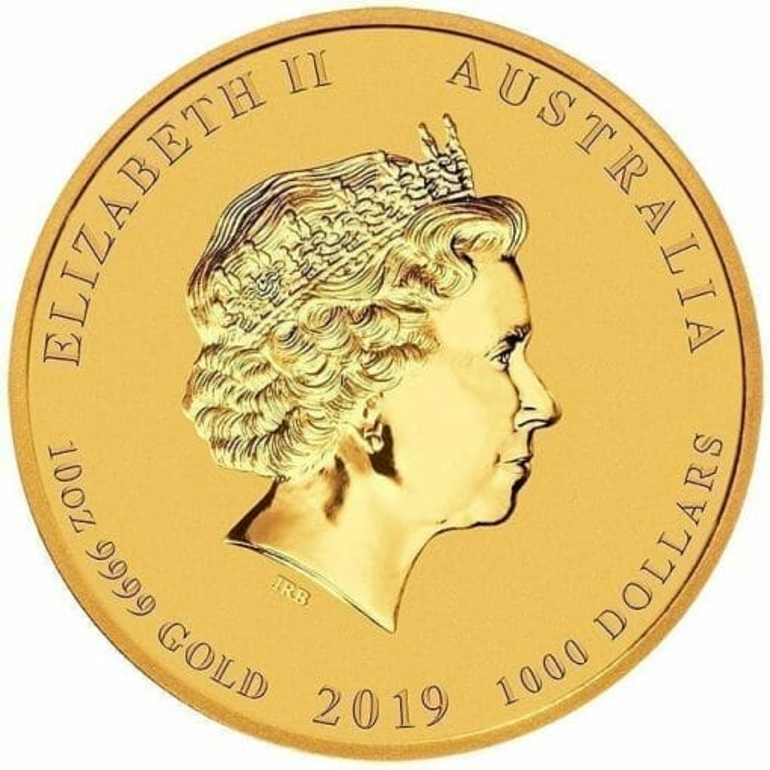 2019 Year of the Pig 10oz Gold Bullion Coin - Lunar Series II 3