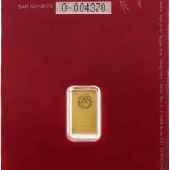 Perth Mint Oriana 1g Gold Minted Bullion Bar - Red Security Card 3