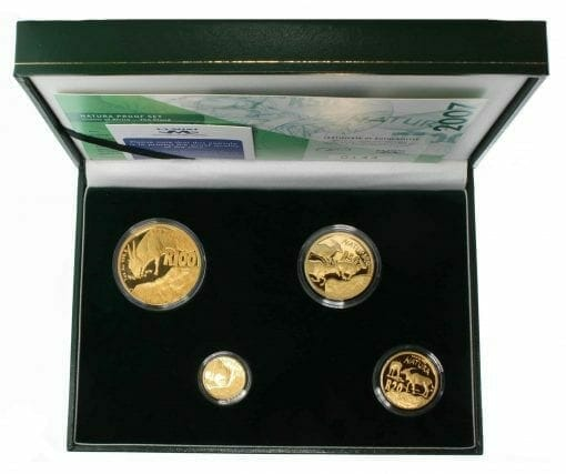 2007 Giants of Africa - The Eland 4 Coin Gold Proof Set - Natura Proof Set 9