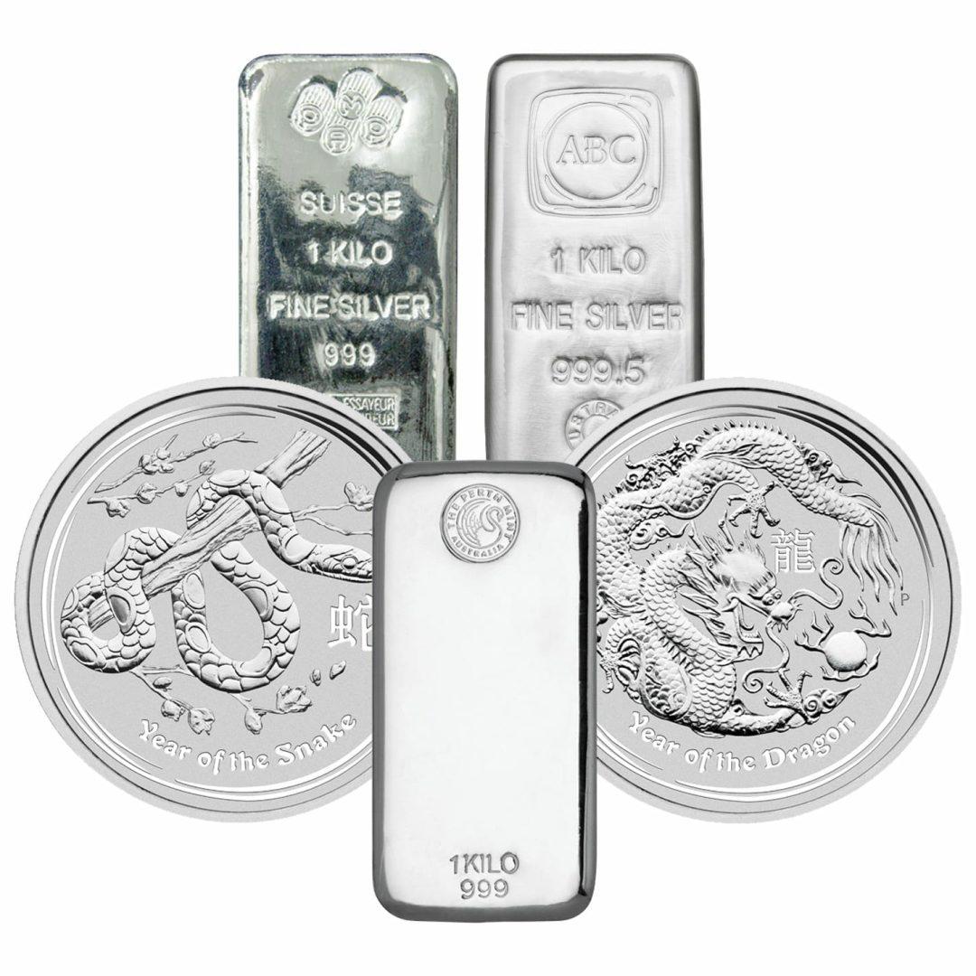 Low Premium 1kg Silver Bullion 1