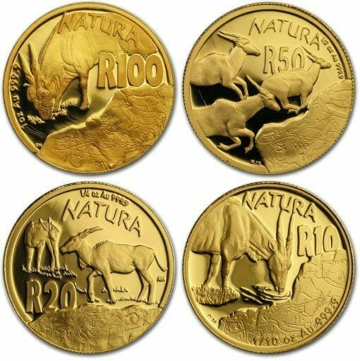 2007 Giants of Africa - The Eland 4 Coin Gold Proof Set - Natura Proof Set 1