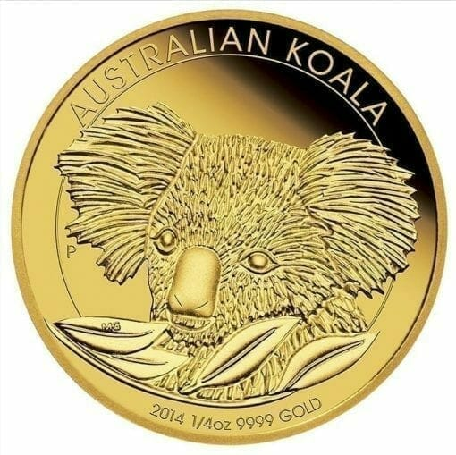 2014 Australian Koala 1/4oz Gold Bullion Coin 1