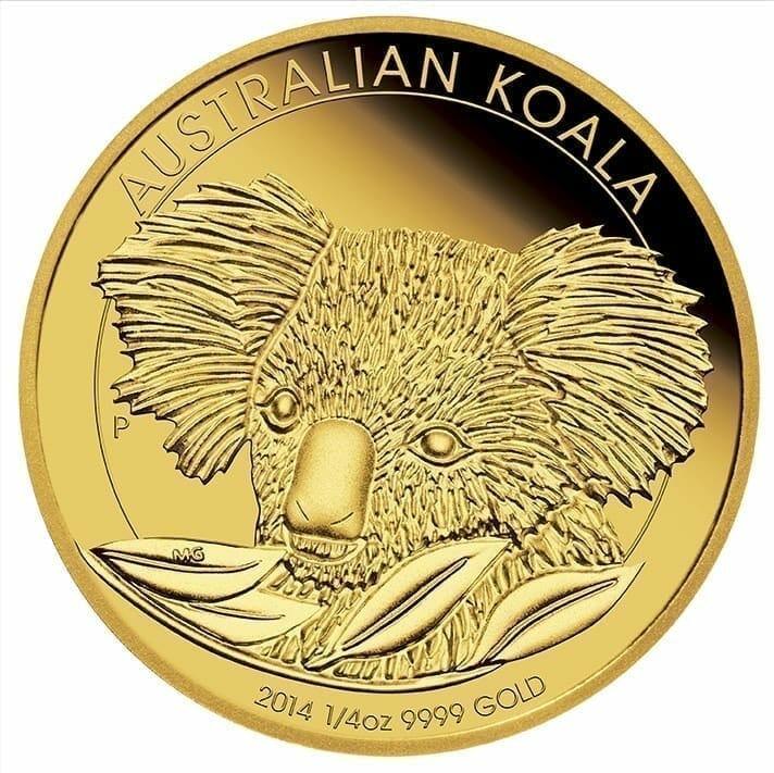 2014 Australian Koala 1/10oz Gold Bullion Coin 1