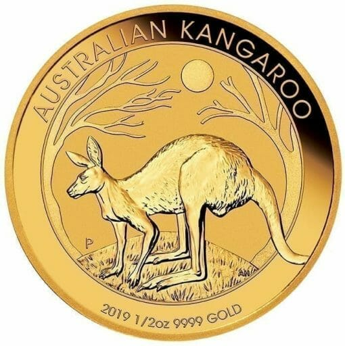 2019 Australian Kangaroo 1/2oz Gold Bullion Coin 1