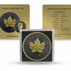 2019 Maple Leaf 1oz Silver Coin - Golden Ring Edition 5