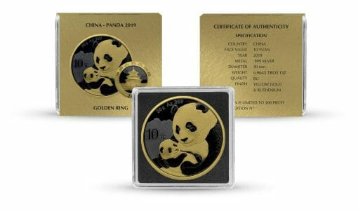 2019 Chinese Silver Panda 30g Silver Coin - Golden Ring Edition 3
