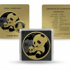 2019 Chinese Silver Panda 30g Silver Coin - Golden Ring Edition 5
