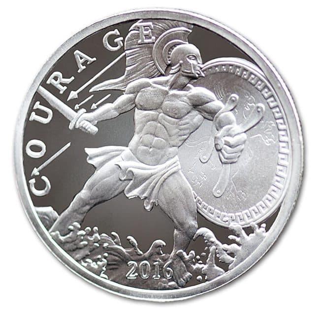 2016 Ajax Greek Hero - Courage 1oz Silver Bullion Coin - Modern Ancients 1