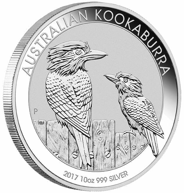 2017 Australian Kookaburra 10oz .999 Silver Bullion Coin 2