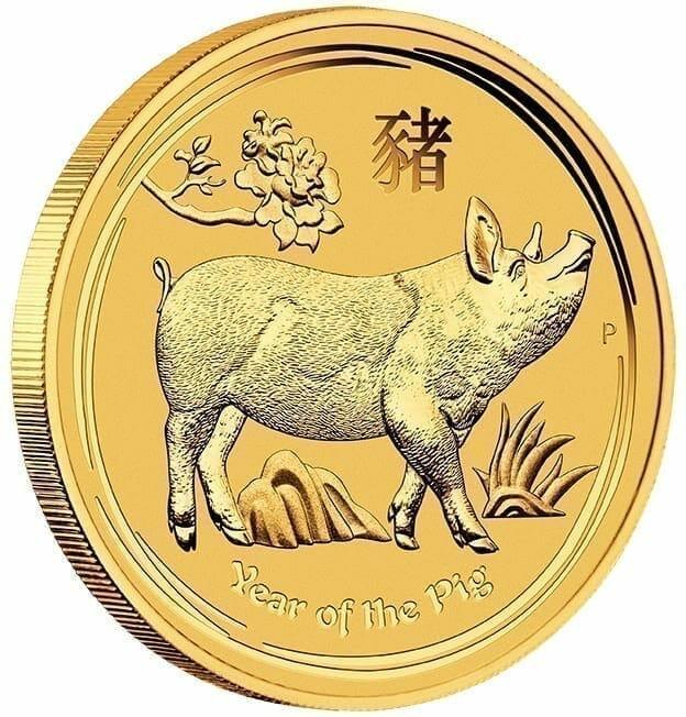 2019 Year of the Pig 1kg Gold Bullion Coin - Lunar Series II 4
