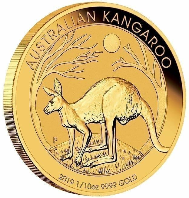 2019 Australian Kangaroo 1/10oz Gold Bullion Coin 2