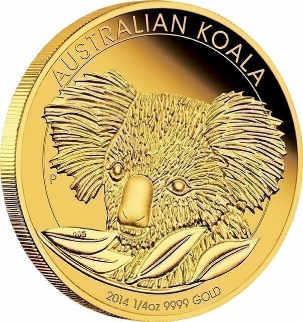2014 Australian Koala 1/10oz Gold Bullion Coin 2