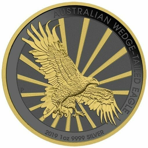 2019 Australian Wedge-Tailed Eagle 1oz Silver Coin - Golden Ring Edition 1