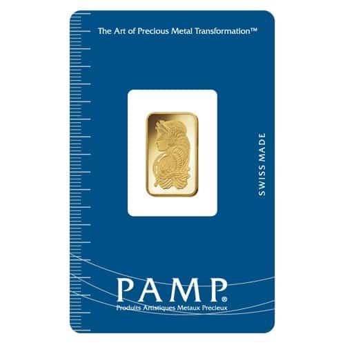 Lady Fortuna 2.5g .9999 Gold Minted Bullion Bar - PAMP Suisse 1