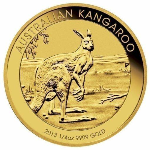 2013 Australian Kangaroo 1/4oz Gold Bullion Coin 1