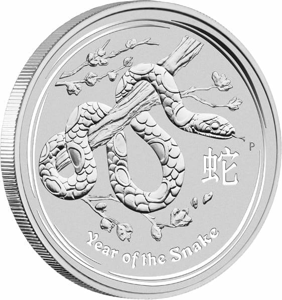 2013 Year of the Snake 1kg .999 Silver Bullion Coin - Lunar Series II 4